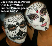 day of the dead face painting class workshop