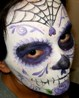 Face Painting for Dia de los Mueros Day of the Dead